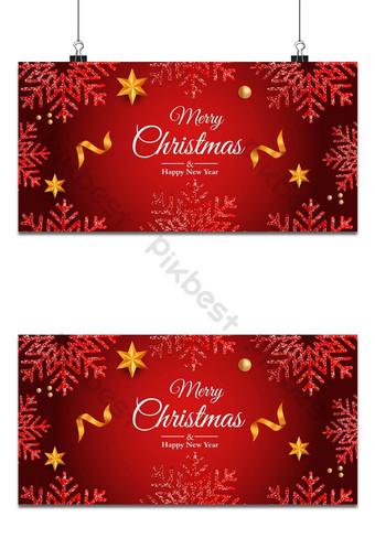 Feliz navidad y próspero año nuevo fondo de navidad copos de nieve Fondos Modelo EPS