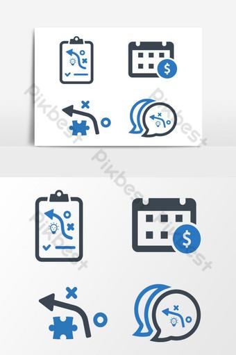 Vector de iconos de negocios 07 sobre fondo blanco Elementos graficos Modelo EPS