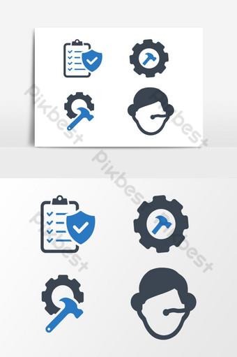Vector de iconos de negocios 08 sobre fondo blanco Elementos graficos Modelo EPS