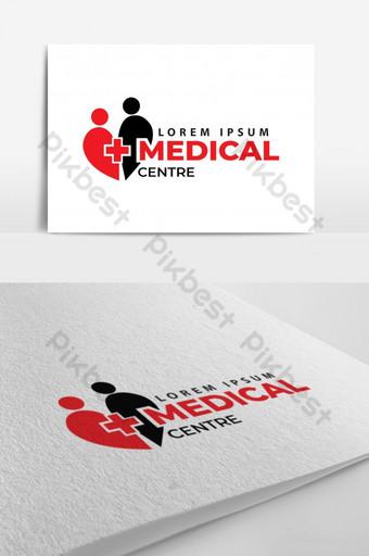 Plantilla de diseño de logotipo de atención médica Modelo AI
