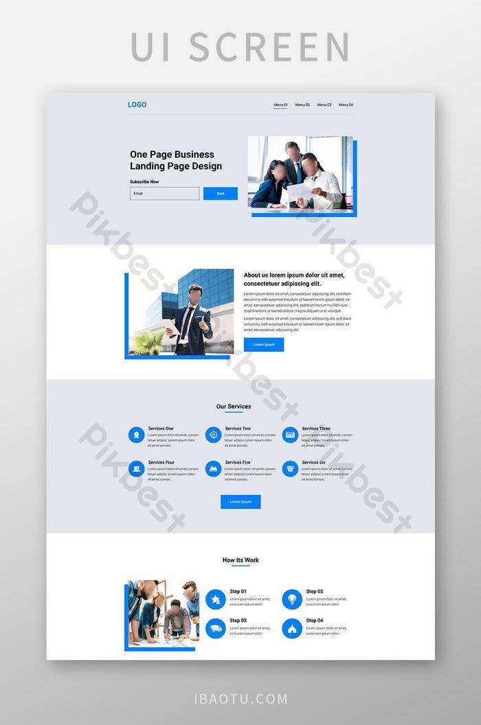 Корпоративный шаблон дизайна веб-сайта целевой страницы для бизнеса Дизайн целевой страницы ux ui