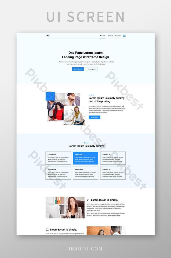 Шаблон дизайна корпоративной целевой страницы для бизнеса