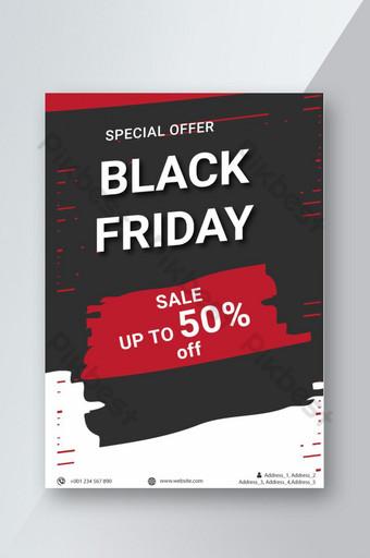 Black Friday Flyer Design Conception de bannière d'offre Black Friday Modèle AI
