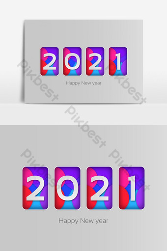 Happy New Year 2021 Design Vector With Background Png Images Eps Free Download Pikbest
