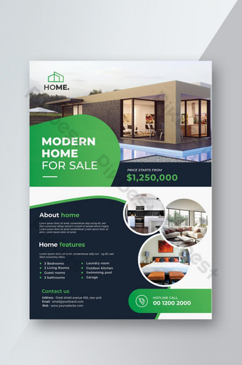 dépliant immobilier moderne Modèle PSD