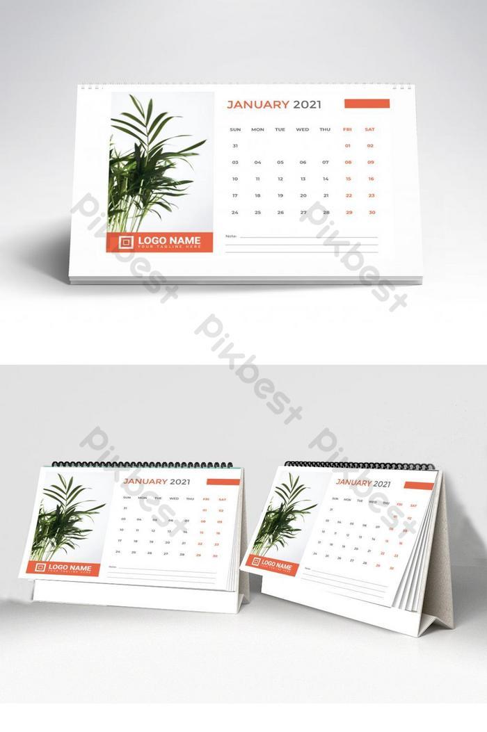 vektor premium templat kalendar meja 2021