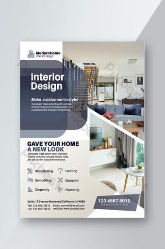 conception de modèle de flyer intérieur entreprise créative Modèle PSD