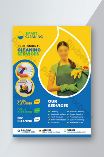Cleaning service flyer template for company purpose Template AI