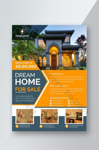 Conception de modèle de flyer maison de rêve à vendre Modèle EPS