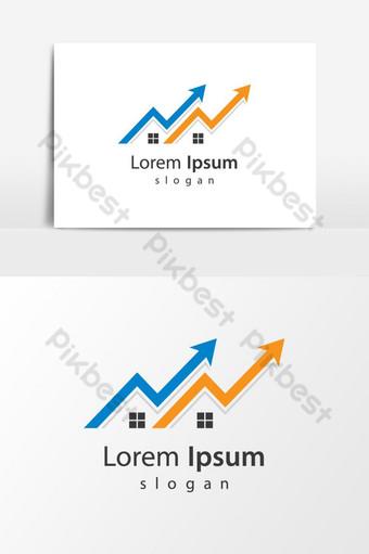 Diseño de ilustración de imágenes de logo de casa Elementos graficos Modelo AI