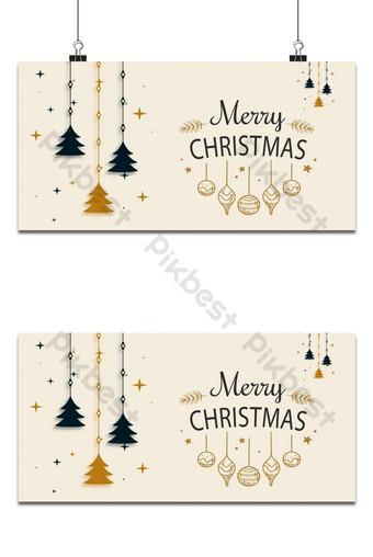 Fond de Noël décoratif avec arbre et étoiles Fond Modèle AI