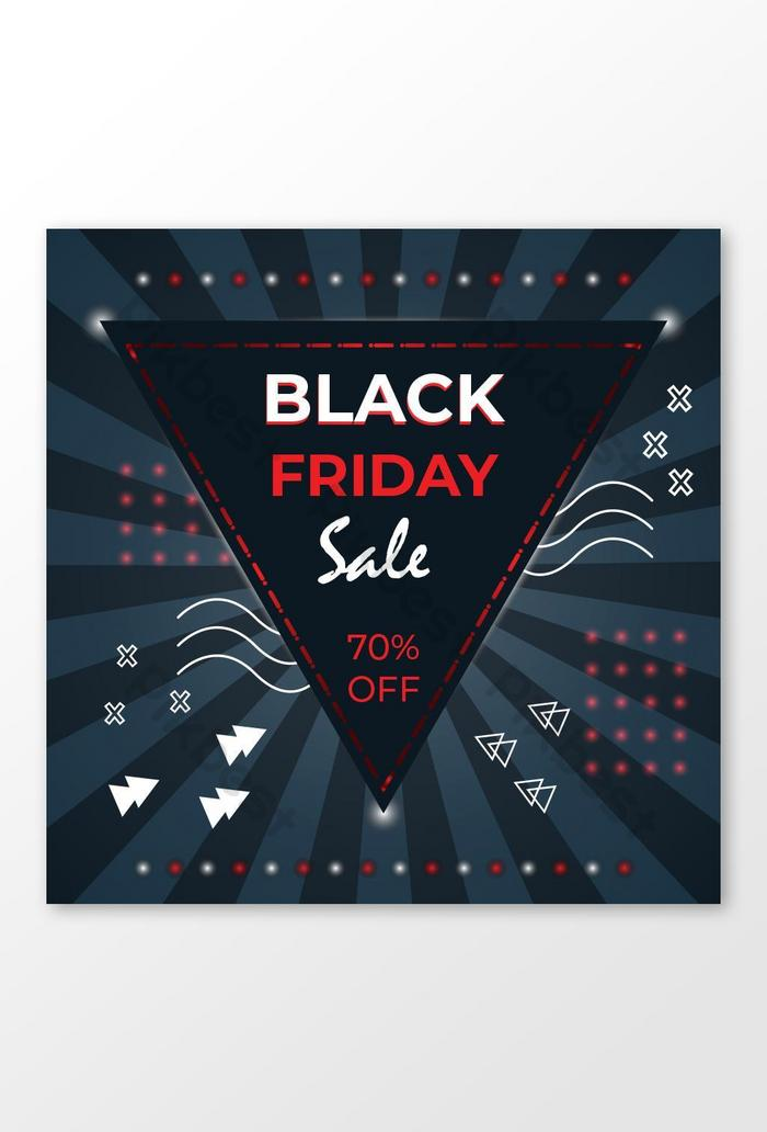 reka banner black friday banner templat reka bentuk jualan black friday sepanduk media sosial