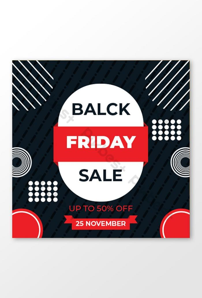 Черная Пятница Продажа Баннер Черная Пятница Баннер Социальные СМИ Баннер Абстрактная Форма Вектор