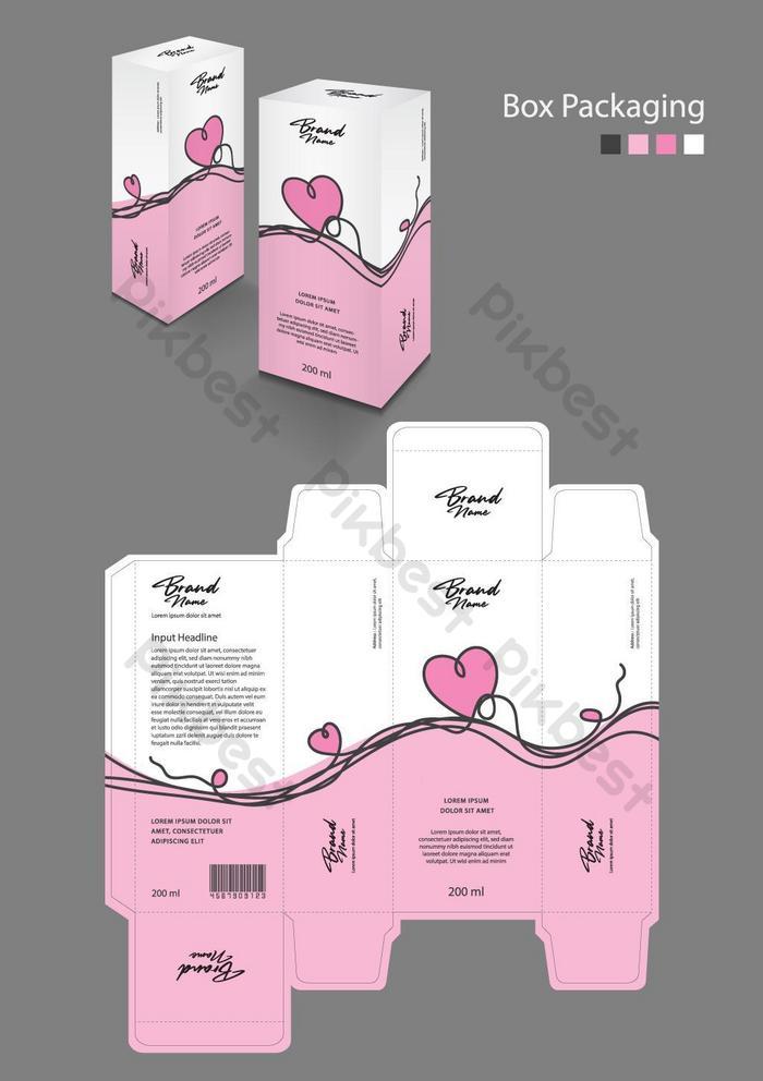 Коробка Шаблон упаковки для косметической добавки Спа Красота, еда, волосы, кожа, лосьон
