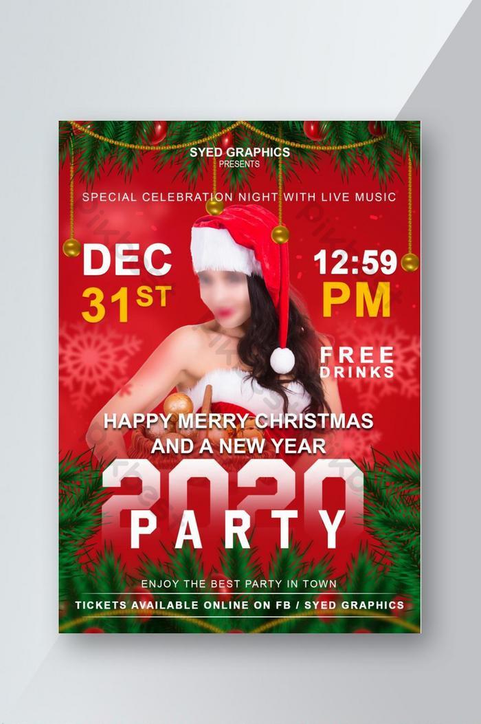 templat jpa flyer party merry christmas