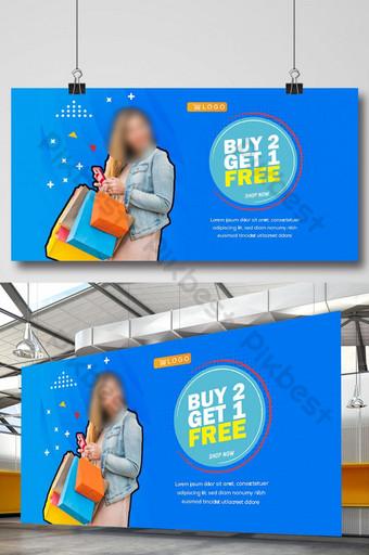 spanduk diskon promosi ecommerce Templat AI