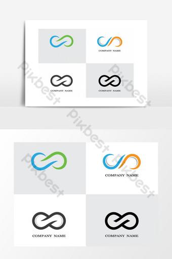 Ilustración de imágenes de logo infinito Elementos graficos Modelo AI