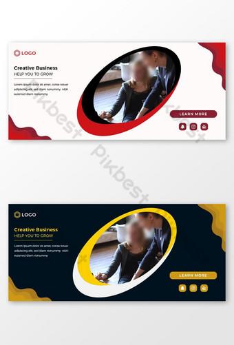 Gambar sampul facebook bisnis dan template spanduk sosial eps Templat PSD