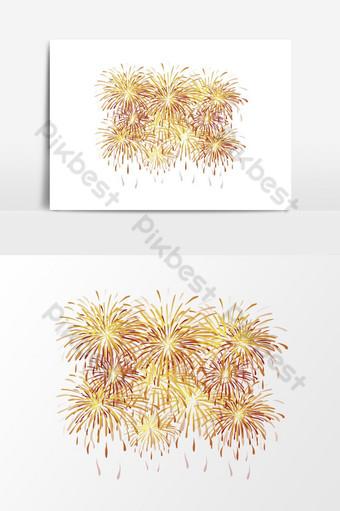 Fuegos artificiales fondo transparente png 1 Elementos graficos Modelo EPS