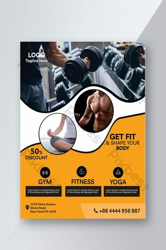 Conception de flyers fitness et exercice Modèle PSD