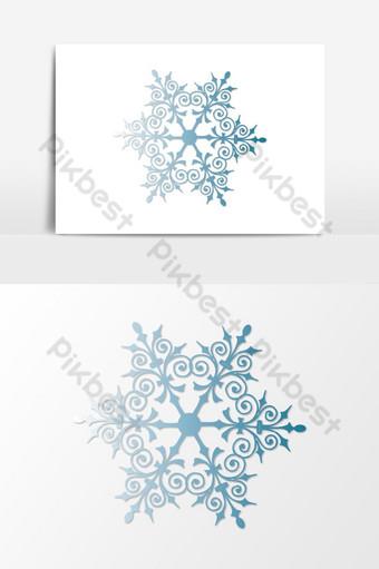 Fondo transparente de copos de nieve de navidad Elementos graficos Modelo EPS