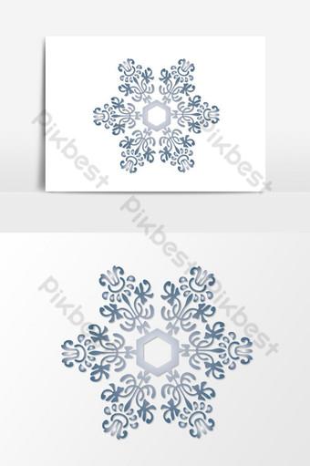 Elemento transparente copos de nieve navideños Elementos graficos Modelo EPS