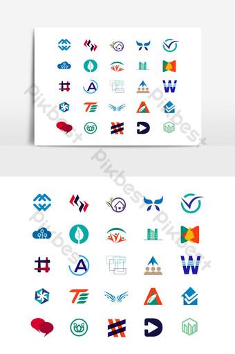 Mega Logo Design Collection Mejor plantilla de vector de logotipo premium UI Modelo EPS