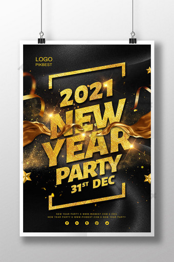 poster pesta tahun baru 2021 tahun baru Templat PSD