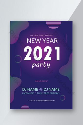 Meilleur design de flyer de fête du nouvel an Modèle AI