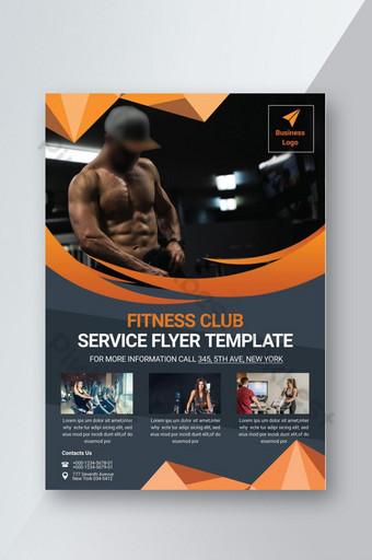 Modèle de Flyer de salle de fitness Modèle PSD