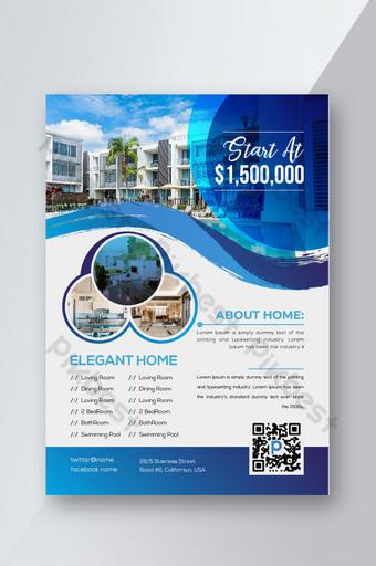 Conception de flyer créatif de vente plate intelligente immobilière Modèle EPS