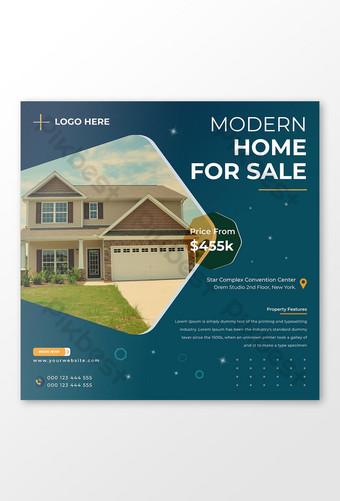 Modèle de publication Facebook pour la maison moderne de l'immobilier Modèle AI
