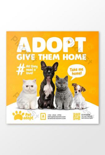 Plantilla de banner de historia de instagram de redes sociales de promoción de tienda de mascotas PSD Premium Modelo PSD