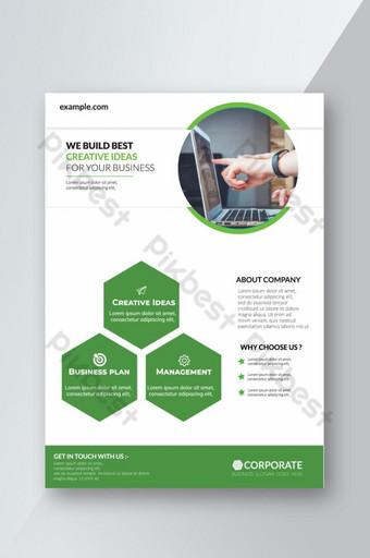 Corporate Business Flyer affiche brochure couverture conception mise en page fond vecteur t Modèle EPS