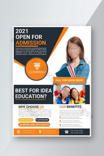 Mejor plantilla de diseño creativo de volante escolar de admisión educativa Modelo AI