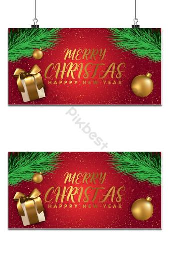 Joyeux Noël et bonne année fond pour bannière d'affiche de cartes de voeux et cadeau Fond Modèle EPS