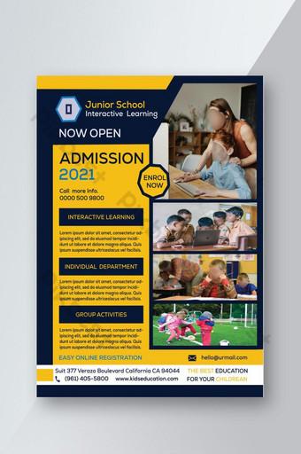 selebaran penerimaan sekolah yang dirancang terbaru Templat PSD