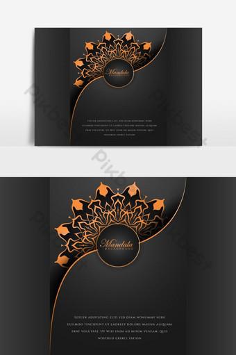 تصميم خلفية ماندالا الفاخرة الإبداعية مع نمط زخرفة الأزهار صور PNG قالب AI