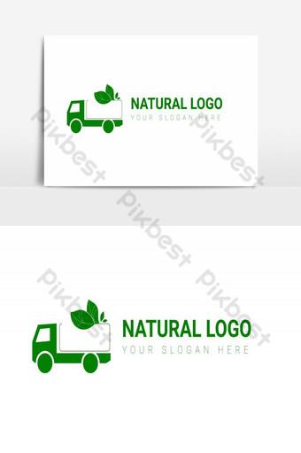 الورقة الخضراء شعار مفهوم ناقلات الطبيعي صور PNG قالب AI