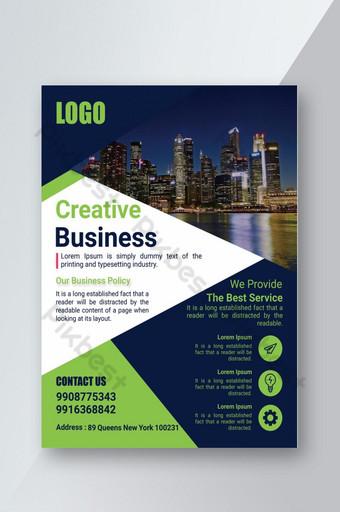 Modèle de support d'impression pour flyer d'entreprise créative Modèle PSD