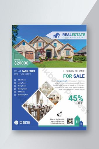 Modèle de flyer immobilier pour la vente à domicile Modèle PSD