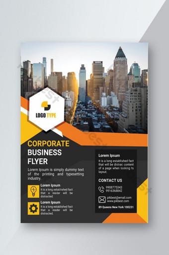 Modèle de support d'impression de flyer d'entreprise Modèle PSD