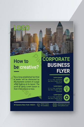 Modèle de support d'impression Corporate Business Flyer Modèle PSD