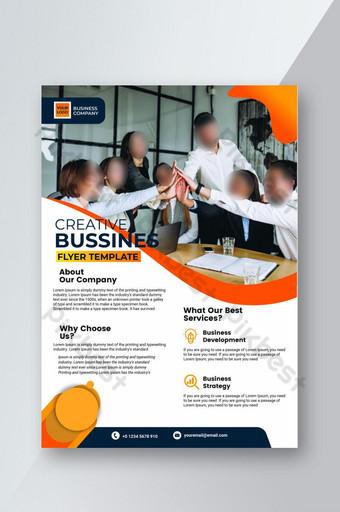 Plantilla de volante de negocios corporativos creativos simples Modelo PSD