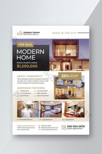 Modèle de flyer immobilier unique Modèle PSD