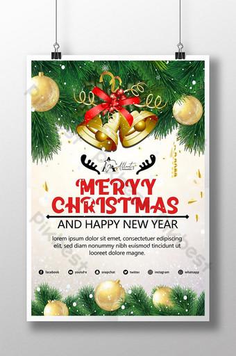 الإبداعية الراقية للتسوق عيد ميلاد سعيد الترويج قالب PSD
