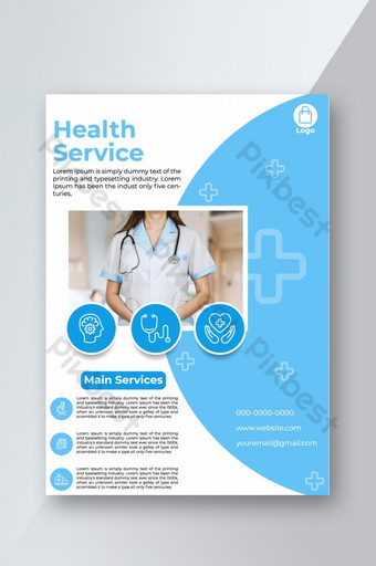 Madical Health Service Corporate Flyer Template AI