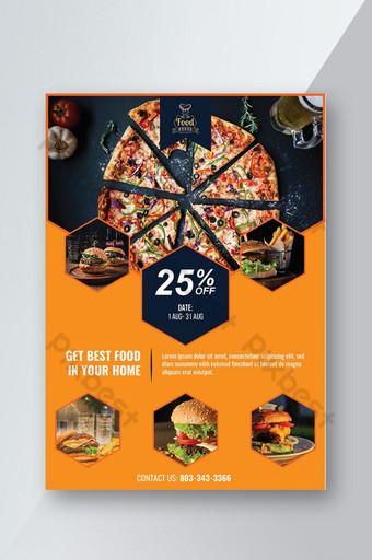 Conception de flyers d'offre de nourriture de restaurant Modèle AI