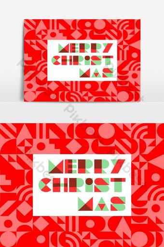 Feliz navidad en fondo abstracto en tono rojo con diseño plano ilustración vectorial Elementos graficos Modelo EPS