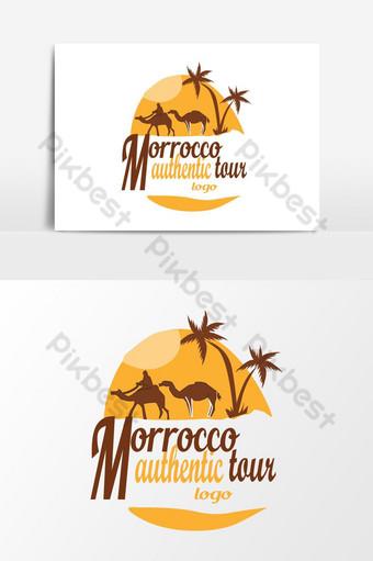 Logotipo de elemento gráfico de Marruecos Travel logo Elementos graficos Modelo AI